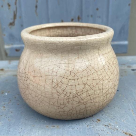 Small Vintage Cream Pottery Bowl